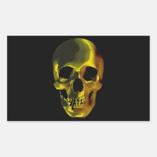 Cráneo Pegatina Rectangular