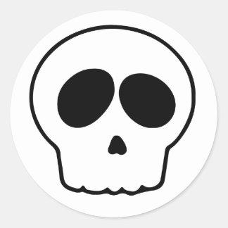 Cráneo Pegatina Redonda