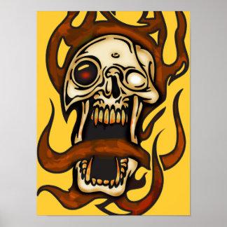 Cráneo penetrante del Cyborg Póster