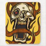 Cráneo penetrante del Cyborg Alfombrilla De Ratones
