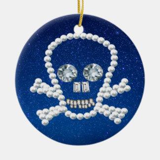 cráneo, perlas adorno redondo de cerámica