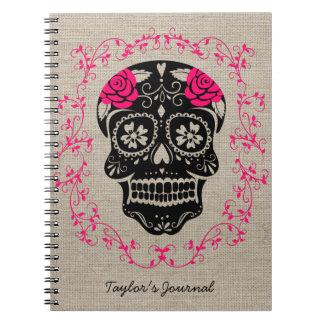 Cráneo personalizado del azúcar del inconformista cuaderno