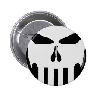 Cráneo Pin Redondo 5 Cm