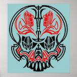 Cráneo Pinstriping Impresiones