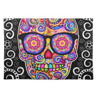 Cráneo Placemat - día del azúcar del inconformista Manteles Individuales