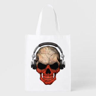 Cráneo polaco de DJ del personalizable con los Bolsa De La Compra
