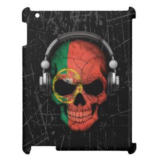 Cráneo portugués rasguñado de DJ con los