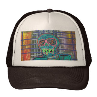 Cráneo psicodélico gorra