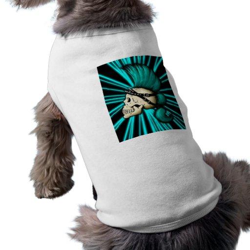 Cráneo punky camisas de mascota