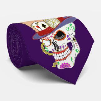 Cráneo punky del azúcar del vapor corbatas personalizadas