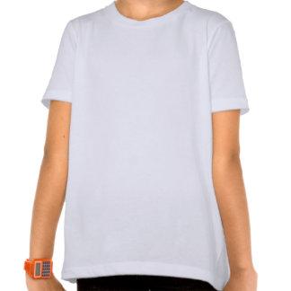 Cráneo punky del gótico lindo con el arco azul en camisetas