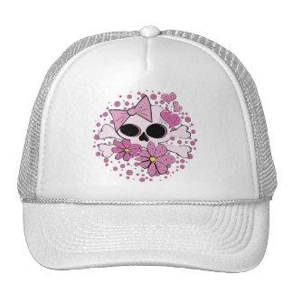 Cráneo punky femenino gorra