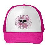 Cráneo punky femenino gorras