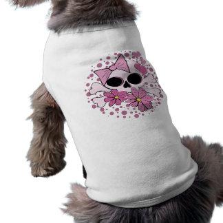 Cráneo punky femenino playera sin mangas para perro