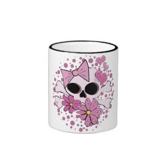 Cráneo punky femenino tazas de café