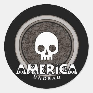 Cráneo punky lindo América Pegatina Redonda