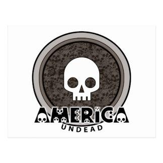 Cráneo punky lindo América Tarjetas Postales