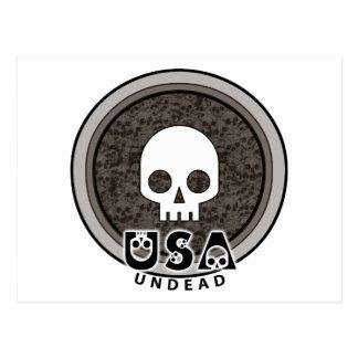 Cráneo punky lindo los E.E.U.U. Postal