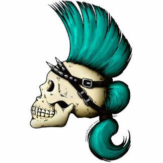 Cráneo punky llavero fotográfico
