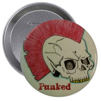 Cráneo punky pins