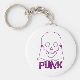 Cráneo punky - punk alternativo de la roca del Gru Llavero Personalizado