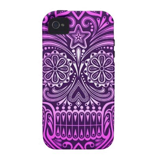 Cráneo púrpura apretado del azúcar carcasa Case-Mate para iPhone 4