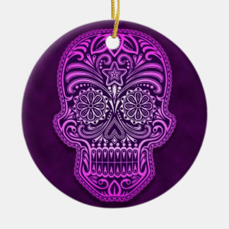Cráneo púrpura complejo del azúcar ornamentos de reyes magos
