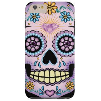 Cráneo púrpura del azúcar funda para iPhone 6 plus tough