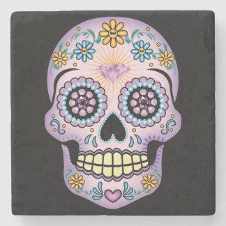 Cráneo púrpura del azúcar posavasos de piedra