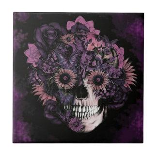 Cráneo púrpura del ohmio con las salpicaduras de l azulejo cuadrado pequeño