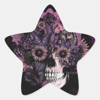 Cráneo púrpura del ohmio con las salpicaduras de pegatina en forma de estrella