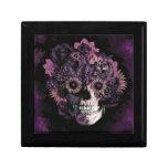 Cráneo púrpura del ohmio con las salpicaduras del  cajas de regalo
