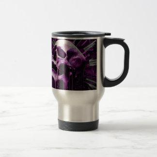 Cráneo púrpura derretido taza de viaje