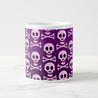 Cráneo púrpura descarado tazas extra grande