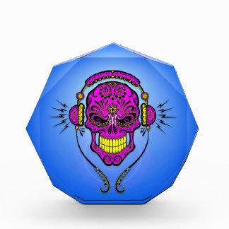 Cráneo, púrpura y azul del azúcar de DJ