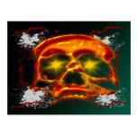 Cráneo que brilla intensamente tarjeta postal