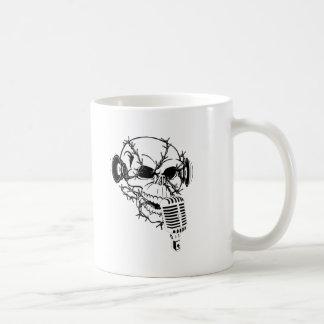 Cráneo que canta personalizable americana taza