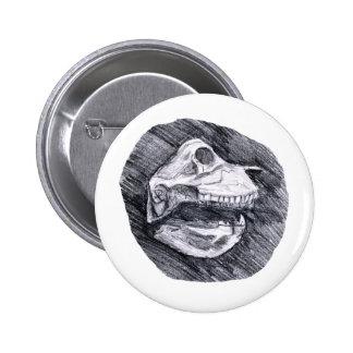 Cráneo que dibuja bosquejo animal imaginario pin