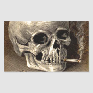 Cráneo que fuma rectangular altavoz