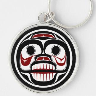 Cráneo que llora del Haida del noroeste de la Llaveros