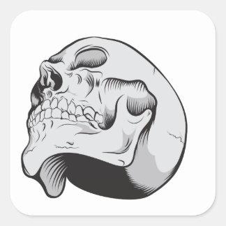 Cráneo que mira para arriba pegatina