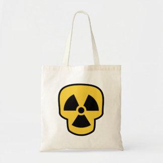 Cráneo radiactivo bolsa tela barata