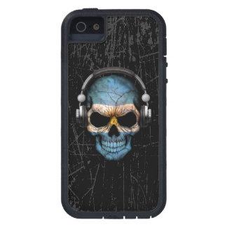Cráneo rasguñado de Argentina DJ con los Funda Para iPhone 5 Tough Xtreme