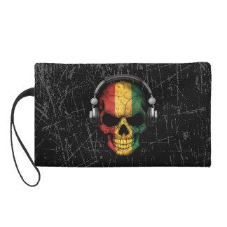 Cráneo rasguñado de DJ de Guinea con los