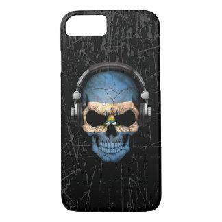 Cráneo rasguñado de El Salvador DJ con los Funda iPhone 7
