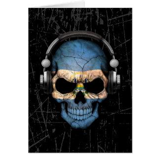 Cráneo rasguñado de El Salvador DJ con los Tarjeta De Felicitación
