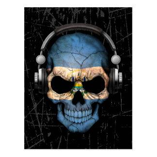 Cráneo rasguñado de El Salvador DJ con los Postal