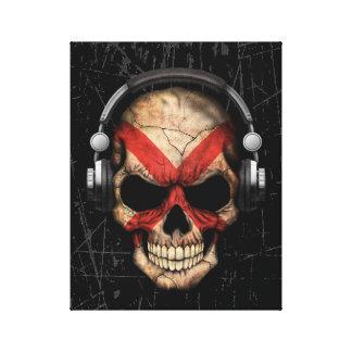 Cráneo rasguñado de Irlanda del Norte DJ Impresión En Lona Estirada