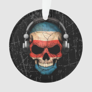 Cráneo rasguñado de Rican DJ de la costa con los