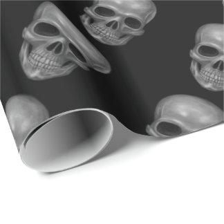 Cráneo realista papel de regalo